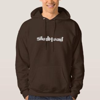 """""""SledHead"""" Dark Brown Sledders.com Hoodie"""
