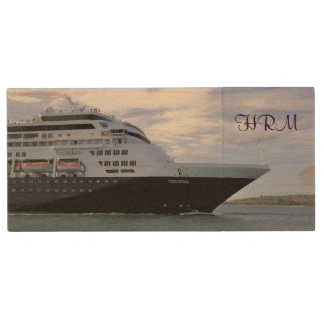 Slee, Cruise Ship Bow Monogrammed Wood USB Flash Drive