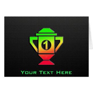 Sleek 1st Place Trophy Greeting Card