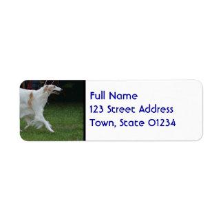 Sleek Afghan Hound Return Address Label