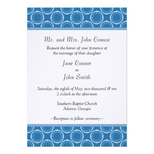 Sleek and Polished Wedding Invite, Cornflower Blue
