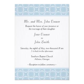 "Sleek and Polished Wedding Invite, Light Blue 5"" X 7"" Invitation Card"