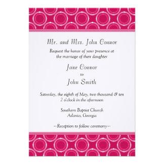 Sleek and Polished Wedding Invite Magenta