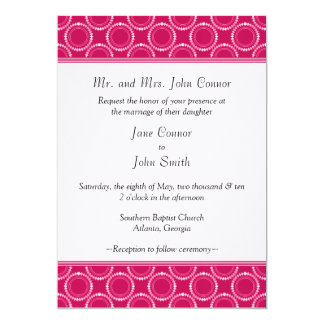 Sleek and Polished Wedding Invite, Magenta