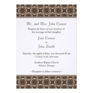 Sleek and Polished Wedding Invite Mocha