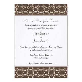 Sleek and Polished Wedding Invite, Mocha