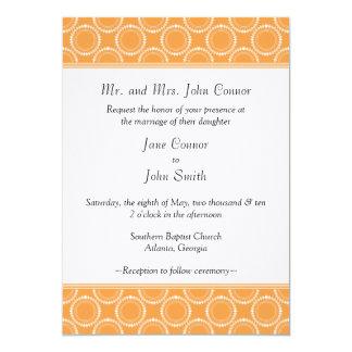 "Sleek and Polished Wedding Invite, Orange 5"" X 7"" Invitation Card"