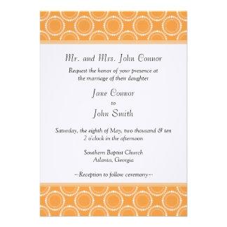 Sleek and Polished Wedding Invite Orange