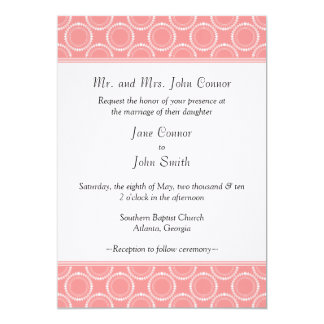 "Sleek and Polished Wedding Invite, Pink 5"" X 7"" Invitation Card"