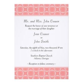 Sleek and Polished Wedding Invite Pink