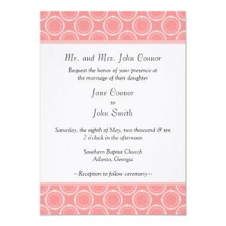 Sleek and Polished Wedding Invite, Pink