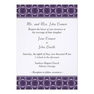 Sleek and Polished Wedding Invite Purple