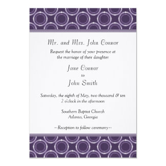 Sleek and Polished Wedding Invite, Purple