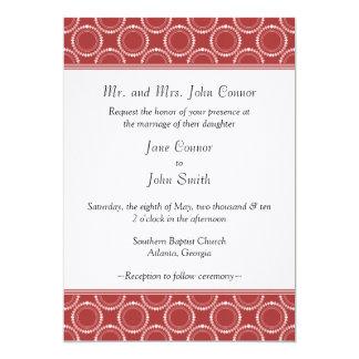 "Sleek and Polished Wedding Invite, Red 5"" X 7"" Invitation Card"