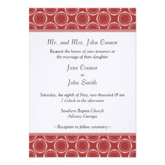Sleek and Polished Wedding Invite Red