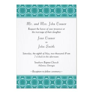"Sleek and Polished Wedding Invite, Teal 5"" X 7"" Invitation Card"