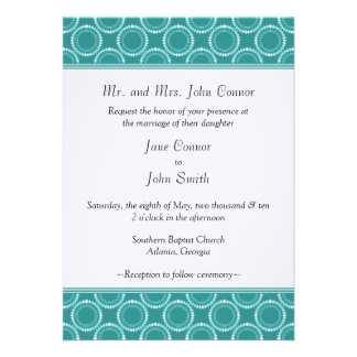 Sleek and Polished Wedding Invite Teal