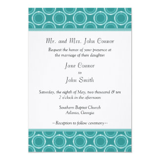 Sleek and Polished Wedding Invite, Teal