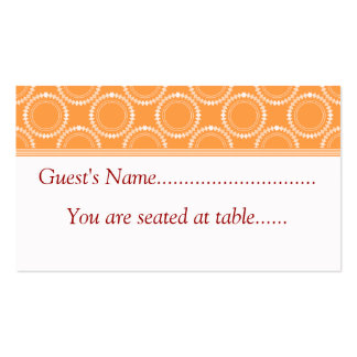 Sleek and Polished Wedding Place Cards, Orange Business Card Template