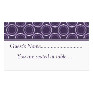 Sleek and Polished Wedding Place Cards, Purple Business Card Template