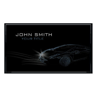 Sleek Automobile Outline Business Card Templates