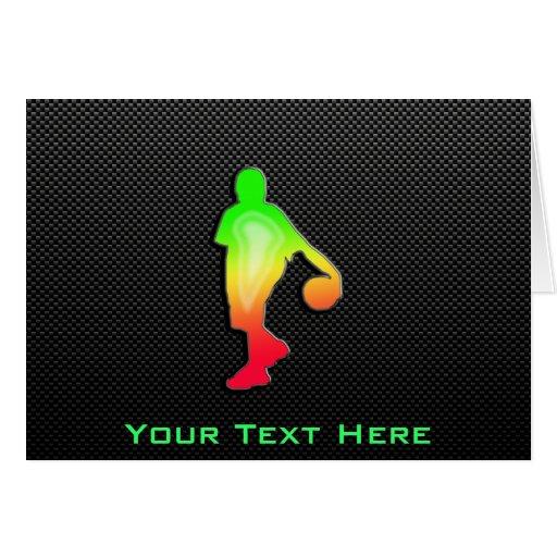 Sleek Basketball Greeting Card