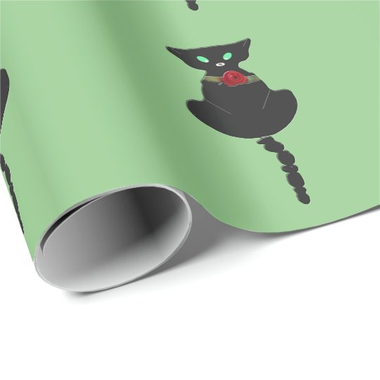 Sleek Black Cat Wrapping Paper