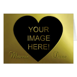 Sleek Black Golden and Modern Wedding Invitation Card