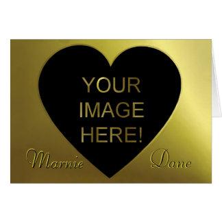 Sleek Black Golden and  Modern Wedding Invitation Note Card