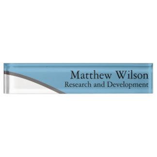 Sleek Blue and Gray Nameplate