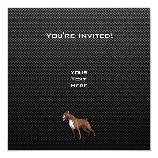 Sleek Boxer Custom Invitations