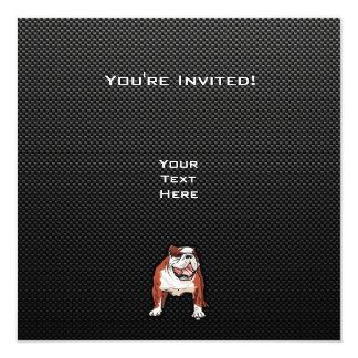 "Sleek Bulldog 5.25"" Square Invitation Card"