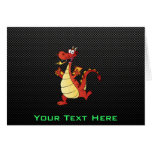 Sleek Cartoon Dragon Greeting Cards
