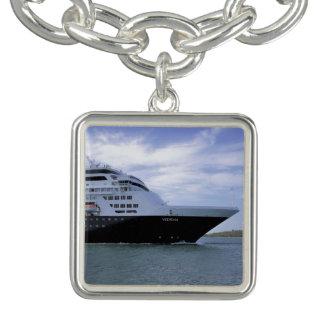 Sleek Cruise Ship Bow Charm Bracelets