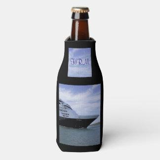 Sleek Cruise Ship Bow Monogrammed Bottle Cooler