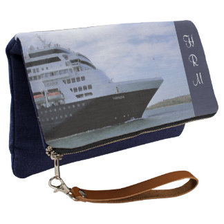 Sleek Cruise Ship Bow Monogrammed Clutch