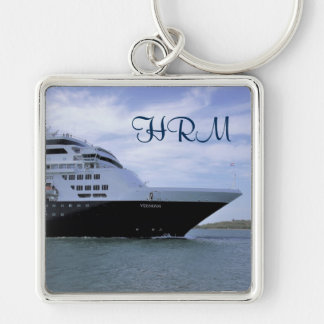 Sleek Cruise Ship Bow Monogrammed Keychain