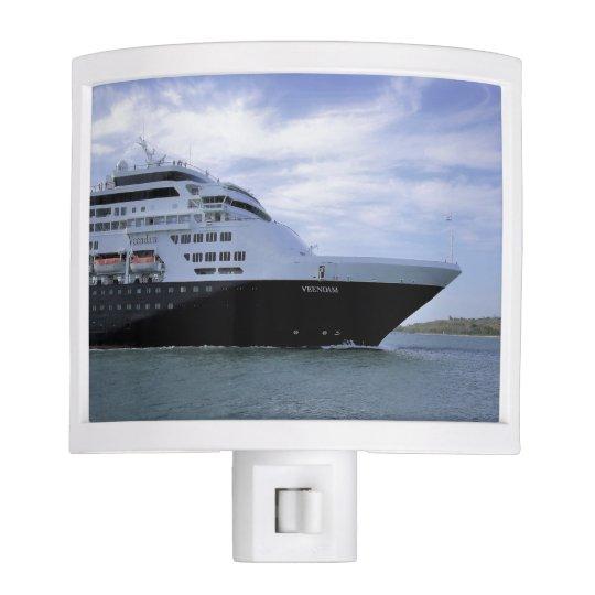 Sleek Cruise Ship Bow Nite Lights