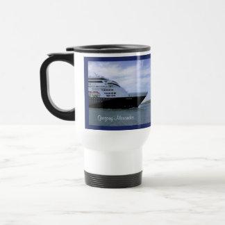 Sleek Cruise Ship Bow Personalized Travel Mug