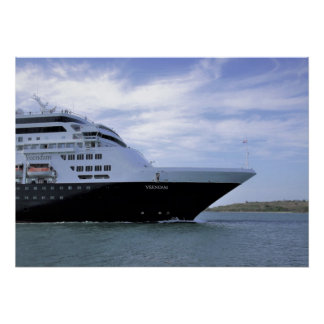 Sleek Cruise Ship Bow Poster