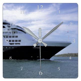 Sleek Cruise Ship Bow Wallclocks