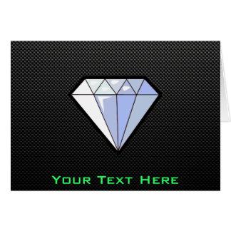Sleek Diamond Greeting Card