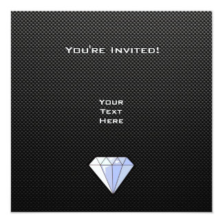 Sleek Diamond Custom Announcements
