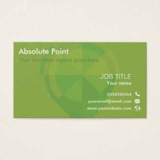 Sleek double sided business card