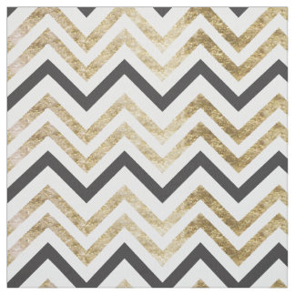 Sleek golden glitter black chevron pattern fabric