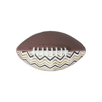 Sleek golden glitter black chevron pattern football