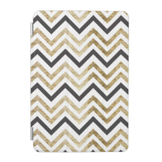 Sleek golden glitter black chevron pattern iPad mini cover