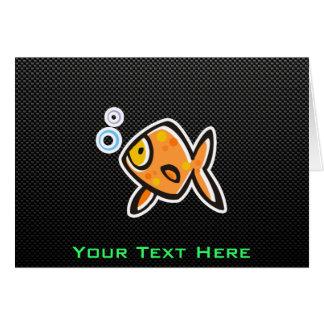 Sleek Goldfish Greeting Card