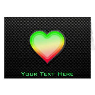 Sleek Heart Greeting Card