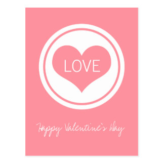 Sleek Heart Postcard, Pink